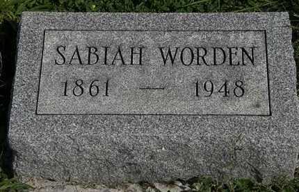WORDEN, SABIAH - Morrow County, Ohio | SABIAH WORDEN - Ohio Gravestone Photos