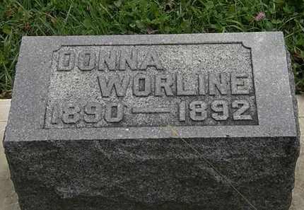 WORLINE, DONNA - Morrow County, Ohio | DONNA WORLINE - Ohio Gravestone Photos