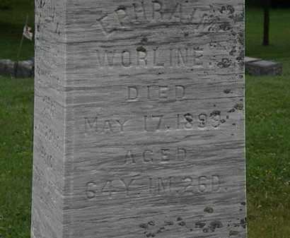 WORLINE, EPHRAIM - Morrow County, Ohio   EPHRAIM WORLINE - Ohio Gravestone Photos