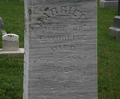 WORLINE, E. - Morrow County, Ohio | E. WORLINE - Ohio Gravestone Photos
