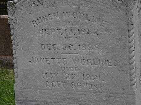 WORLINE, RUBEN - Morrow County, Ohio | RUBEN WORLINE - Ohio Gravestone Photos
