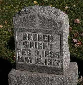 WRIGHT, REUBEN - Morrow County, Ohio   REUBEN WRIGHT - Ohio Gravestone Photos