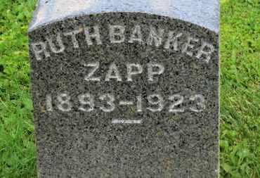BANKER ZAPP, RUTH - Morrow County, Ohio | RUTH BANKER ZAPP - Ohio Gravestone Photos