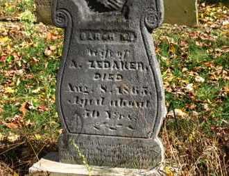 ZEDAKER, A. - Morrow County, Ohio | A. ZEDAKER - Ohio Gravestone Photos
