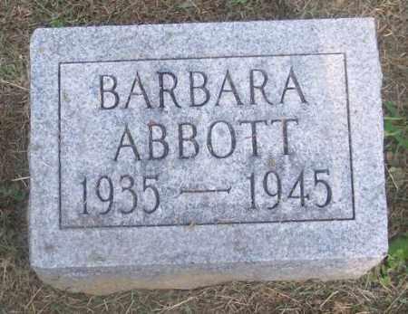 ABBOTT, BARBARA - Muskingum County, Ohio | BARBARA ABBOTT - Ohio Gravestone Photos