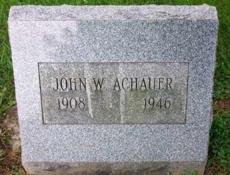 ACHAUER, JOHN W. - Muskingum County, Ohio   JOHN W. ACHAUER - Ohio Gravestone Photos