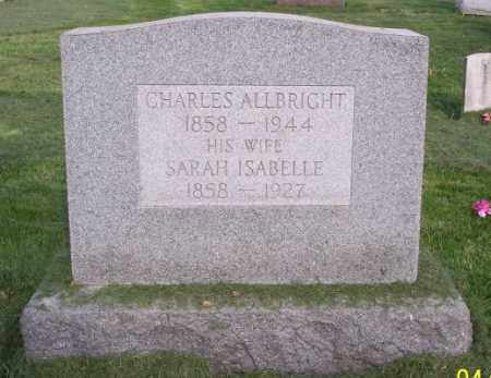 ALLBRIGHT, CHARLES - Muskingum County, Ohio | CHARLES ALLBRIGHT - Ohio Gravestone Photos