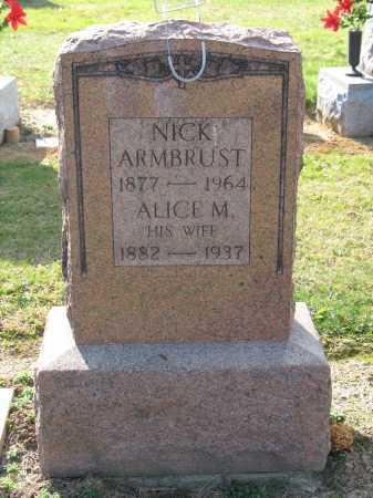 ARMBRUST, ALICE M - Muskingum County, Ohio   ALICE M ARMBRUST - Ohio Gravestone Photos