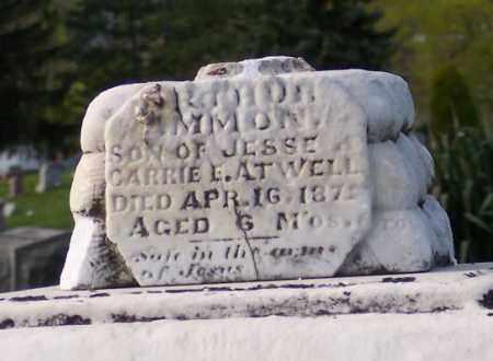 ATWELL, RATHOR AMMON - Muskingum County, Ohio | RATHOR AMMON ATWELL - Ohio Gravestone Photos