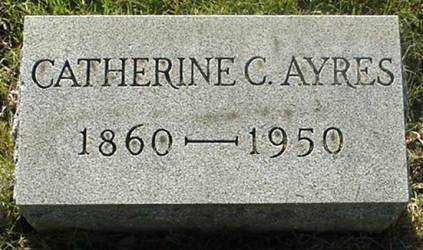 AYRES, CATHERINE C. - Muskingum County, Ohio | CATHERINE C. AYRES - Ohio Gravestone Photos