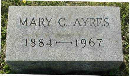 AYRES, MARY C. - Muskingum County, Ohio   MARY C. AYRES - Ohio Gravestone Photos