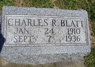 BLATT, CHARLES R - Muskingum County, Ohio | CHARLES R BLATT - Ohio Gravestone Photos