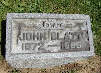 BLATT, JOHN - Muskingum County, Ohio | JOHN BLATT - Ohio Gravestone Photos