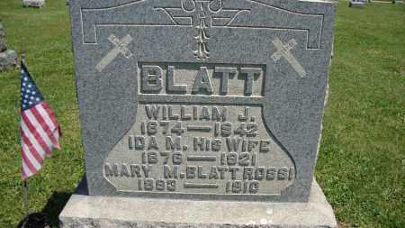 BLATT, IDA M - Muskingum County, Ohio | IDA M BLATT - Ohio Gravestone Photos