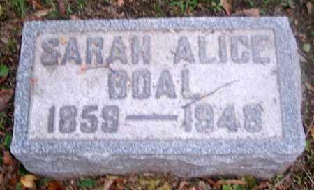 BOAL, SARAH ALICE - Muskingum County, Ohio   SARAH ALICE BOAL - Ohio Gravestone Photos