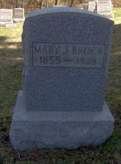 BROCK, MARY J - Muskingum County, Ohio   MARY J BROCK - Ohio Gravestone Photos