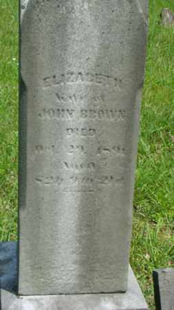 BROWN, ELIZABETH - Muskingum County, Ohio | ELIZABETH BROWN - Ohio Gravestone Photos