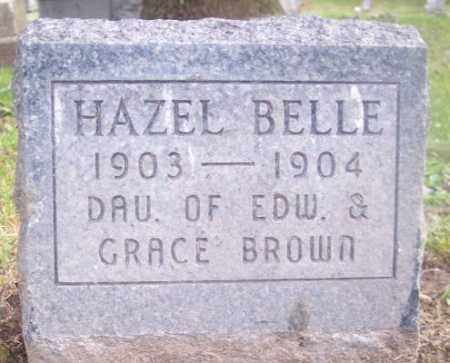BROWN, HAZEL BELLE - Muskingum County, Ohio | HAZEL BELLE BROWN - Ohio Gravestone Photos
