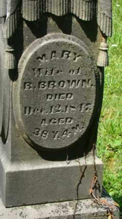 BROWN, MARY - Muskingum County, Ohio   MARY BROWN - Ohio Gravestone Photos