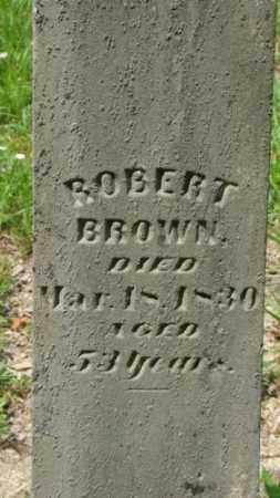 BROWN, ROBERT - Muskingum County, Ohio | ROBERT BROWN - Ohio Gravestone Photos