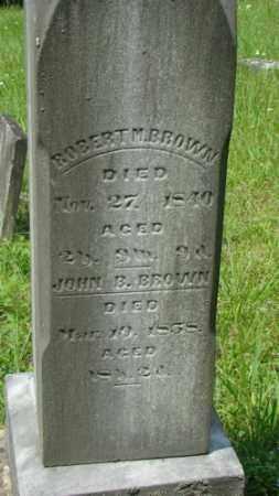 BROWN, ROBERT M. - Muskingum County, Ohio | ROBERT M. BROWN - Ohio Gravestone Photos