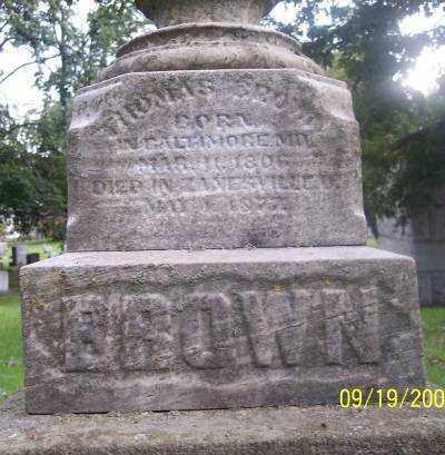 BROWN, THOMAS - Muskingum County, Ohio | THOMAS BROWN - Ohio Gravestone Photos