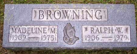 BROWNING, MADELINE M. - Muskingum County, Ohio | MADELINE M. BROWNING - Ohio Gravestone Photos