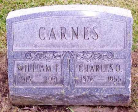 CARNES, WILLIAM F. - Muskingum County, Ohio   WILLIAM F. CARNES - Ohio Gravestone Photos