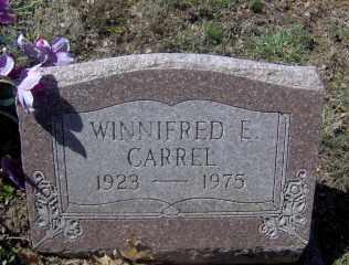 CARREL, WINNIFRED E - Muskingum County, Ohio | WINNIFRED E CARREL - Ohio Gravestone Photos