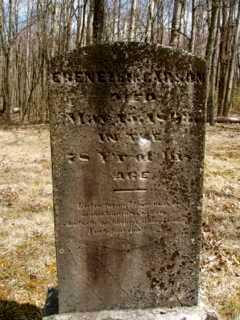 CARSON, EBENEZER - Muskingum County, Ohio | EBENEZER CARSON - Ohio Gravestone Photos