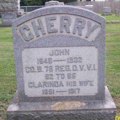 CHERRY, JOHN - Muskingum County, Ohio | JOHN CHERRY - Ohio Gravestone Photos
