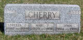 CHERRY, LORETTA J - Muskingum County, Ohio | LORETTA J CHERRY - Ohio Gravestone Photos