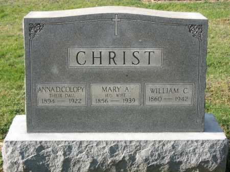 CHRIST, MARY A - Muskingum County, Ohio | MARY A CHRIST - Ohio Gravestone Photos