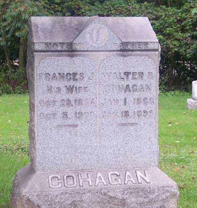 COHAGEN, FRANCES J. - Muskingum County, Ohio | FRANCES J. COHAGEN - Ohio Gravestone Photos