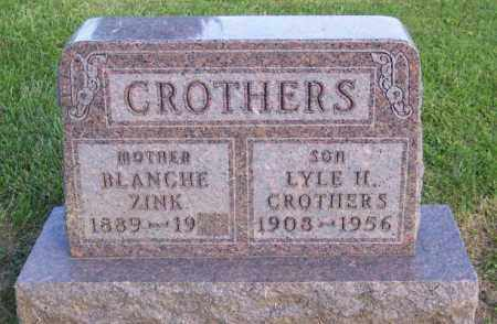 ZINK CROTHERS, BLANCHE - Muskingum County, Ohio | BLANCHE ZINK CROTHERS - Ohio Gravestone Photos