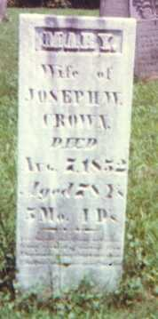 SLATER CROWN, MARY - Muskingum County, Ohio | MARY SLATER CROWN - Ohio Gravestone Photos