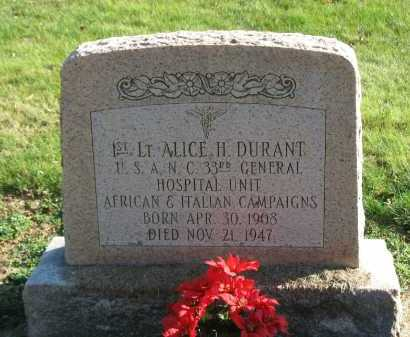 DURANT, ALICE H. - Muskingum County, Ohio | ALICE H. DURANT - Ohio Gravestone Photos