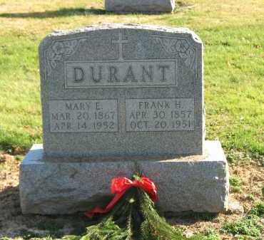 DURANT, MARY E. - Muskingum County, Ohio | MARY E. DURANT - Ohio Gravestone Photos