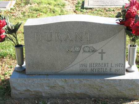 DURANT, MYRTLE E. - Muskingum County, Ohio | MYRTLE E. DURANT - Ohio Gravestone Photos