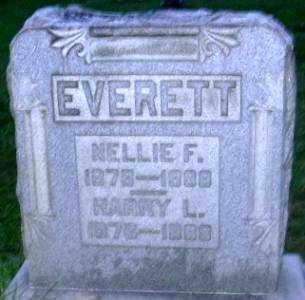 EVERETT, NELLIE F. - Muskingum County, Ohio | NELLIE F. EVERETT - Ohio Gravestone Photos