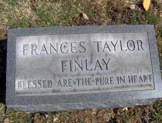 FINLAY, FRANCES TAYLOR - Muskingum County, Ohio | FRANCES TAYLOR FINLAY - Ohio Gravestone Photos