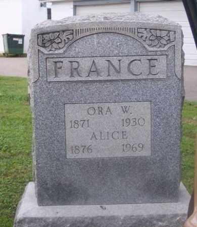 FRANCE, ORA W. - Muskingum County, Ohio | ORA W. FRANCE - Ohio Gravestone Photos