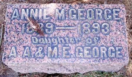 GEORGE, ANNIE M. - Muskingum County, Ohio | ANNIE M. GEORGE - Ohio Gravestone Photos