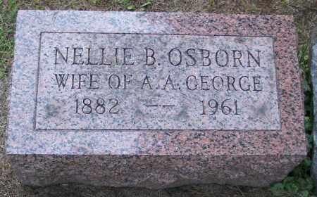 OSBORN GEORGE, NELLIE B. - Muskingum County, Ohio | NELLIE B. OSBORN GEORGE - Ohio Gravestone Photos
