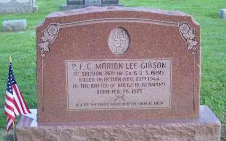GIBSON, MARION LEE - Muskingum County, Ohio   MARION LEE GIBSON - Ohio Gravestone Photos
