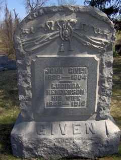 HENDERSON GIVEN, LUCINDA - Muskingum County, Ohio | LUCINDA HENDERSON GIVEN - Ohio Gravestone Photos