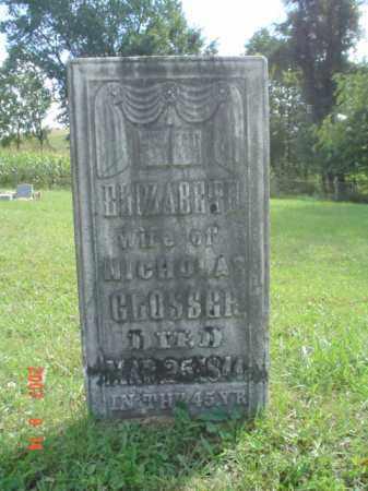 GLOSSER, ELIZABETH D. - Muskingum County, Ohio | ELIZABETH D. GLOSSER - Ohio Gravestone Photos