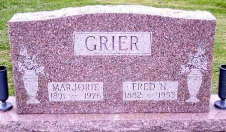 GRIER, MARJORIE - Muskingum County, Ohio | MARJORIE GRIER - Ohio Gravestone Photos