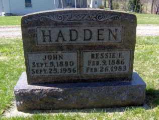 HADDEN, BESSIE E - Muskingum County, Ohio   BESSIE E HADDEN - Ohio Gravestone Photos