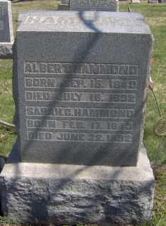 HAMMOND, ALBERT - Muskingum County, Ohio   ALBERT HAMMOND - Ohio Gravestone Photos